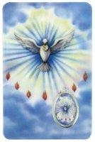Card Spirito Santo in PVC - 5,5 x 8,5 cm - Inglese