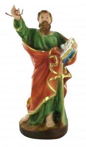 Copertina di 'Statua San Paolo con serpente, in gesso dipinta a mano - 25 cm'