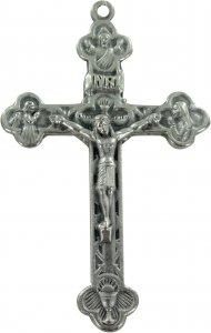 Copertina di 'Croce in metallo ossidato con Cristo - 6 cm'