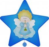 Carillon a forma di stella con angioletto e tromba cm 16x16