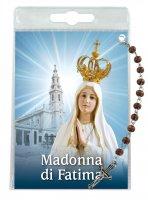 """Decina """"Madonna di Fatima"""" con cartoncino rosario - grani tondi 4 mm"""