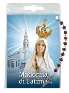 """Copertina di 'Decina """"Madonna di Fatima"""" con cartoncino rosario - grani tondi 4 mm'"""