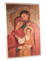 """Icona in legno """"Sacra Famiglia"""" - dimensioni 19x13 cm"""