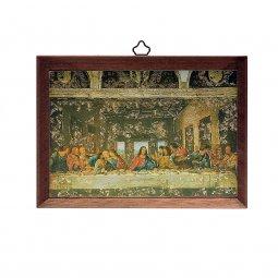 """Copertina di 'Icona in legno massello """"Ultima Cena"""" - dimensioni 15x10 cm'"""