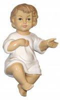 Gesù Bambino in ceramica lucida - cm 17