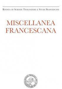 Copertina di 'Miscellanea Francescana n. III-IV/2014'