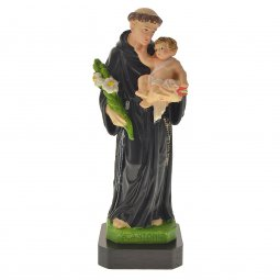 """Copertina di 'Statua sacra dipinta a mano """"Sant'Antonio di Padova"""" - altezza 16 cm'"""