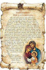 """Copertina di 'Tavoletta sagomata """"Preghiera per la famiglia - 1""""'"""
