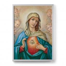 """Copertina di 'Quadro """"Sacro cuore di Maria"""" con cornice minimal - dimensioni 73x53 cm'"""