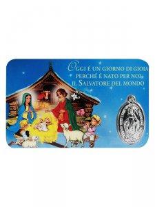 """Copertina di 'Card medaglia """"Presepe"""" (10 pezzi)'"""