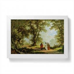 """Copertina di 'Quadretto """"Discepoli di Emmaus"""" con cornice minimal - dimensioni 10x15 cm'"""