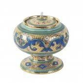 Lucerna in ceramica a palla con piede - 14 cm
