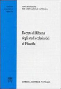 Copertina di 'Decreto di riforma degli studi ecclesiastici di filosofia'