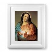 """Quadro """"Sacro Cuore di Gesù"""" con passe-partout e cornice decorata a sbalzo"""