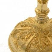Immagine di 'Calice dorato con coppa svasata stile barocco - altezza 21,5 cm'