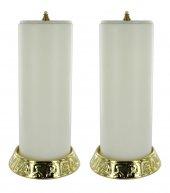 coppia candelieri 643 con finte candele