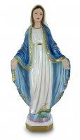 Statua Madonna Miracolosa in gesso madreperlato dipinta a mano - 50 cm
