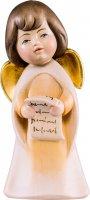 Statuina dell'angioletto che canta, linea da 11 cm, in legno dipinto a mano, collezione Angeli Sognatori - Demetz Deur