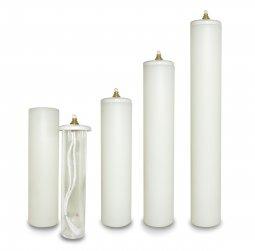Copertina di 'Candela a cera liquida con cartuccia diam. 5 cm per candela alta 30 cm'