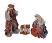 """Set statue """"Natività"""" in resina e tessuto - altezza 15 cm"""