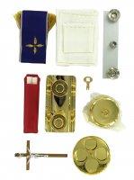 Immagine di 'Valigia per celebrazioni - Servizio da messa con 15 oggetti'