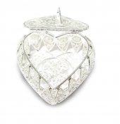 Portarosario in filigrana d'argento 925 a forma di cuore