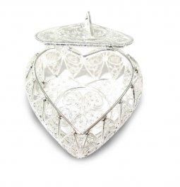 Copertina di 'Portarosario in filigrana d'argento 925 a forma di cuore'