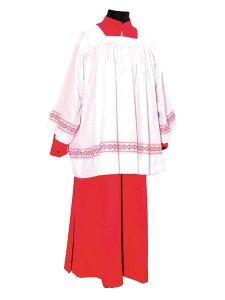 Copertina di 'Tunica rossa per chierichetto - lunghezza 120 cm'
