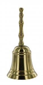 Copertina di 'Campanello classico in ottone argentato - 11x5 cm'