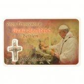 "Card medaglia ""Papa Francesco e Gesù Bambino"" (10 pezzi)"