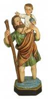 Statua di San Cristoforo da 12 cm in confezione regalo con segnalibro in IT/EN/ES/FR