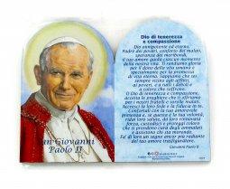 Copertina di 'Quadretto in legno doppia cupola cm 8,9 x 11,5 con supporto - San Giovanni Paolo II'