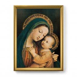 """Copertina di 'Quadro """"Madonna del Buon Consiglio"""" con lamina oro e cornice dorata - dimensioni 44x34 cm'"""