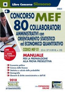 Copertina di 'Concorso MEF - 80 Collaboratori Orientamento Statistico-Economico Quatitativo - Manuale'