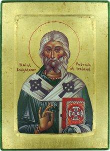 Copertina di 'Icona Saint Patrick / San Patrizio, produzione greca su legno - 25,5 x 18,5 cm'