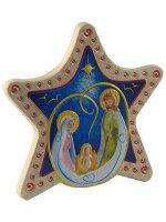 Calamita a forma di stella con Sacra Famiglia