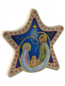 "Copertina di 'Calamita in polimero a forma di stella ""Natività"" - dimensioni 6,5x6 cm'"