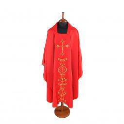 Copertina di 'Casula rossa con ricco ricamo a croce'