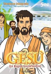 Copertina di 'Gesù. Un Regno senza confini versione integrale - Nel nome di Gesù (cofanetto 5 dvd con schede storiche e bibliche)'