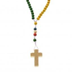 Copertina di 'Rosario missionario in legno - grani tondi 7 mm'
