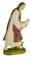 Immagine di 'Pastorella con gallina Linea Martino Landi - presepe da 12 cm'