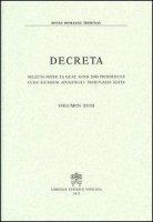 Decreta. Selecta inter ea quae anno 2000 prodierunt cura eiusdem Apostolici Tribunalis edita