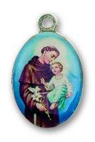Immagine di 'Medaglia in metallo piastra cm. 22 x 16 raffigurante Sant Antonio'