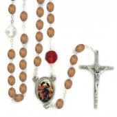 Rosario in legno naturale Madonna che disfa i nodi