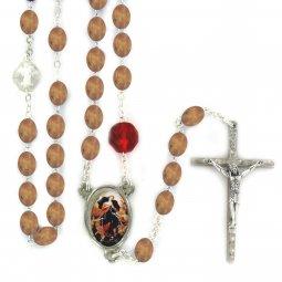 Copertina di 'Rosario in legno naturale Madonna che disfa i nodi'