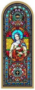 Copertina di 'Tavola Santa Teresa stampa tipo vetrata su legno - 10 x 27 cm'