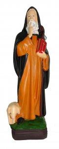 Copertina di 'Statua da esterno Sant Antonio Abate in materiale infrangibile dipinta a mano cm 40'