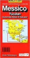 Messico. Yucatan. Guatemala. Belize. El Salvador 1:2.500.000