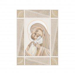 """Copertina di 'Quadro in legno MDF """"Madonna col Bambino"""" - dimensioni 20x25 cm'"""