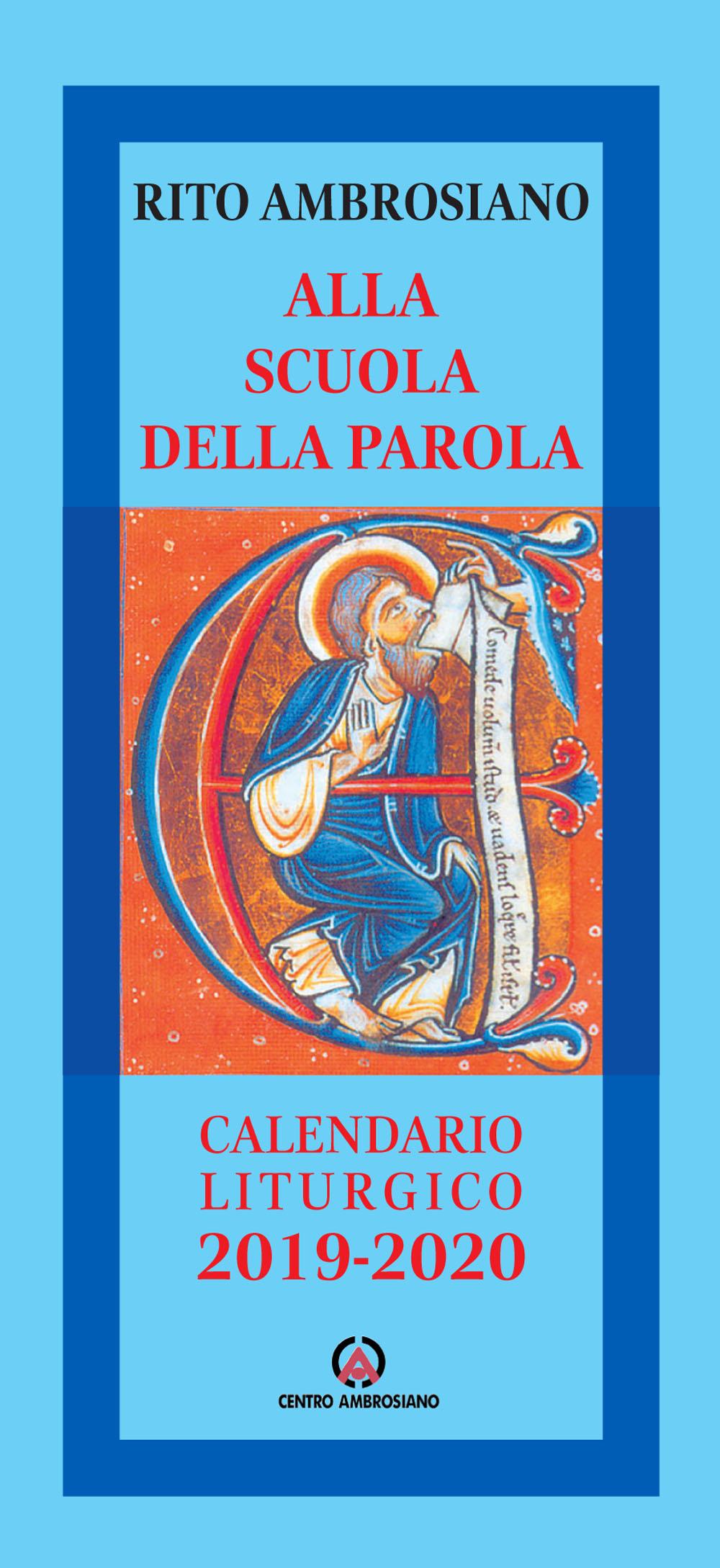 Calendario Religioso 2020.Alla Scuola Della Parola Calendario Liturgico 2019 2020